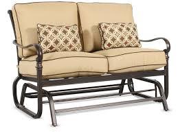 Antique Metal Porch Glider Furniture Modern Porch Glider With Vanilla Seating Cushions