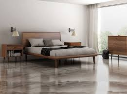 modern master bedroom with concrete tile by umodstyle furniture