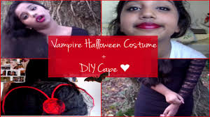 vampire halloween costume my makeup diy cape youtube