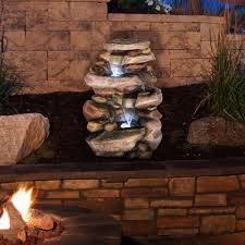 sears outdoor lighting outdoor garden fountains with lights video and photos