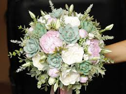 wedding flowers eucalyptus wedding bouquet succulent bouquet clay flowers alternative bouquet