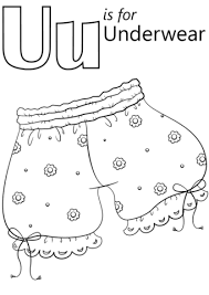 underwear coloring free printable coloring pages