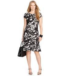 lauren by ralph lauren plus size floral print belted peplum dress