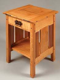 Bed Side Table by Arts U0026 Crafts Bedside Table Popular Woodworking Magazine