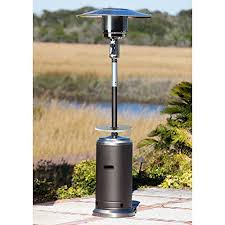 fire sense stainless steel patio heater with adjustable table sense standard series patio heater with adjustable table p