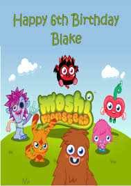 Moshi Monsters Halloween by Personalised Monster High Birthday Card