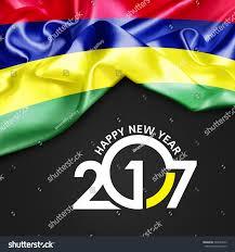 Mauritius Flag Royalty Free Mauritius Happy New Year 2017 Abstract U2026 503394613