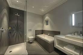grey white bathroom decoration using grey mosaic tile bathtub