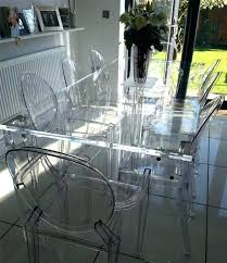 Clear Acrylic Dining Chair Transparent Dining Room Chairs Mesmerizing Transparent Dining Room
