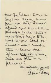 brown writing paper loyola university chicago digital special collections alice alice brown letter to fr lelen nov 1932 with envelope