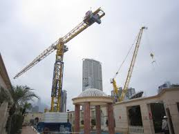 a comansa jie tower crane in the pool