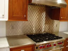 Quilted Stainless Steel Brooks Custom Contemporary Kitchen - Custom stainless steel backsplash