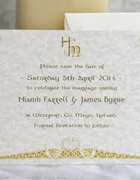 save the date card save the date single card celtic wedding stationery