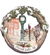 2006 raue memorial clock ornament downtown lake
