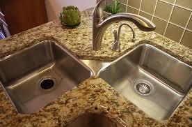 Kitchen Corner Sinks Stainless Steel by Kitchen Undermount Corner Kitchen Sink With High Arc Faucet And