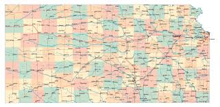 Kansas City Metro Map by Large Detailed Administrative Map Of Kansas State With Highways