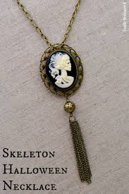 cameo antique necklace images Diy halloween necklace skeleton cameo crafts unleashed jpg