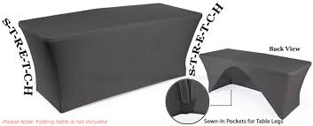 black display table cloth 6 stretch table cover open back black display and jewellery