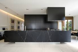 decorating ideas large block black sleek marble kitchen bench with