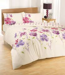 Amazon Duvet Sets Eleanor Floral Pink Lilac Printed King Size Duvet Set Amazon Co