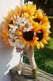 wedding flowers sunflowers sunflower bridal bouquet sunflower bouquet by silkflowersbyjean