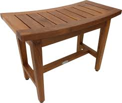 24 maluku lotus teak shower bench