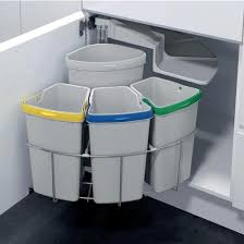 you can separate your recyclables right away in your kitchen