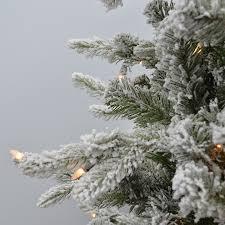 ft feel real snow medium artificial tree clear lights