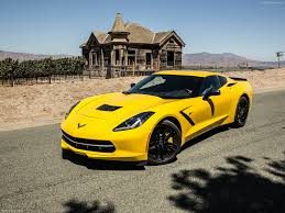 yellow corvette c7 chevrolet corvette c7 stingray 2014 pictures information specs