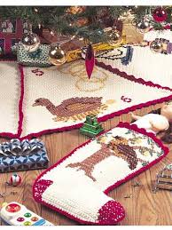 Crochet Christmas Stocking Tree Decoration by 12 Best Crochet Tree Skirts Images On Pinterest Christmas Tree