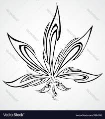 marijuana leaf design royalty free vector image