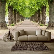 3d mural 3d mural wallpaper forest road living room beauty essentials