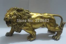 metal lion sculpture metal crafts collectable home decorations feng shui brass lion