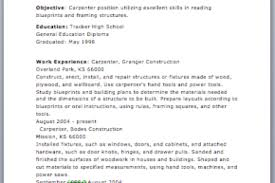 Carpenter Sample Resume by Construction Carpenter Resume Examples And Samples Reentrycorps
