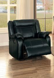 Black Leather Recliner Chair Homelegance Jude Reclining Sofa Set Black Leather Gel Match