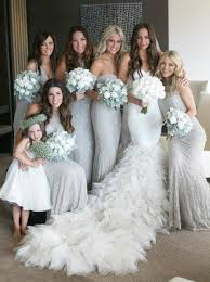light bridesmaid dresses buy mermaid sweetheart floor length light grey tulle bridesmaid