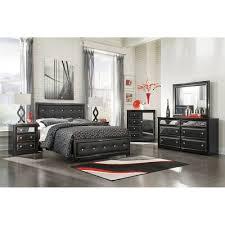 Black Leather Bedroom Sets King Uph Poster Bed 5 Pc Bedroom Package