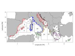 Mediterranean Sea World Map by Large Scale Spatio Temporal Patterns Of Mediterranean Cephalopod