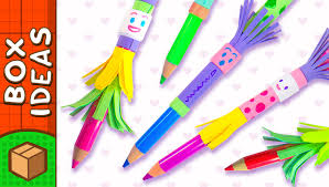diy pencil topper people craft ideas for kids on box yourself