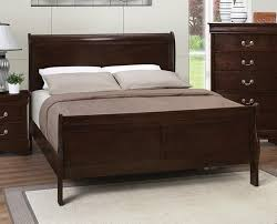 Headboard And Footboard Frame Unstained Birch Wood Frame With Headboard And Footboard Placed