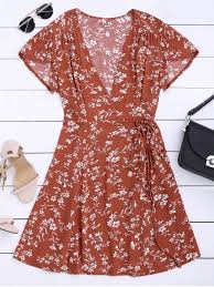 pictures of dresses floral print self tie wrap dress floral print dresses m zaful