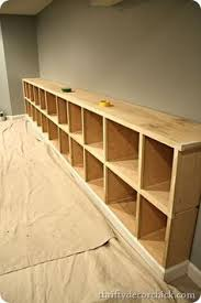 Basement Shelves Woodworking Plans by Ana White Build A 4x4 Rolling Cube Shelf Adjustable Shelves