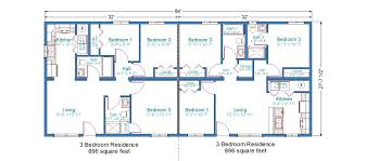 floor plan for 3 bedroom house home architecture duplex house plan with garage stupendous mobile