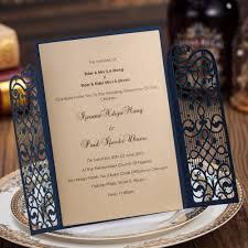 invitation kits for wedding aliexpress com buy dark blue laser cut wedding invitations kits