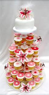 cup cake wedding cakes with tiger lilies online shopping site