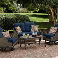 Lazy Boy Outdoor Patio Furniture by La Z Boy Outdoor Charlotte 4 Pc Seating Set Blue Limited