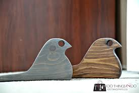 diy door stop rustic bird from scrap wood