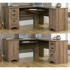 Sauder L Shaped Desk With Hutch Sauder Salt Oak Desk Amazing Contemporary Harbor View L Shaped