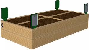 vegetable garden box pine wood