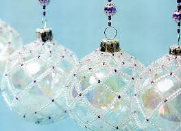 diy beaded ornament covers celebrating